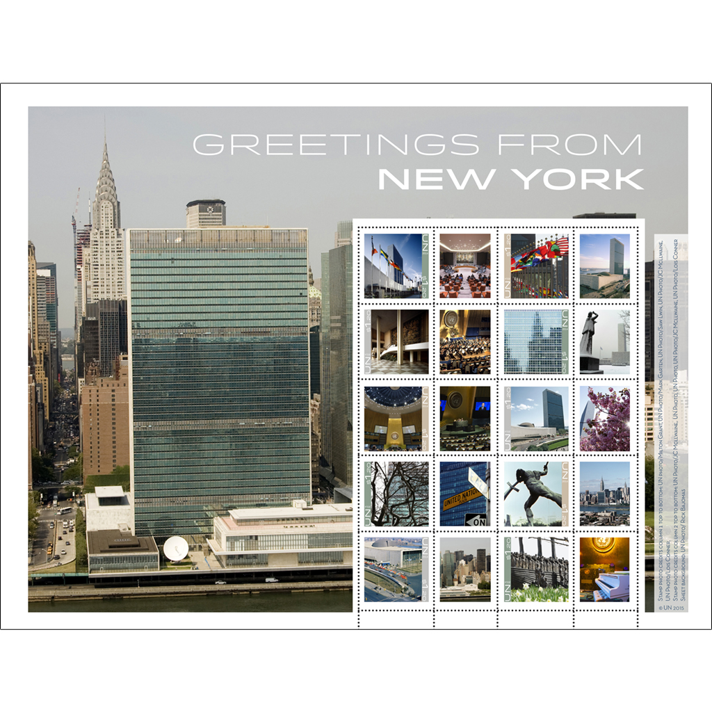 Greetings From New York Un Stamps