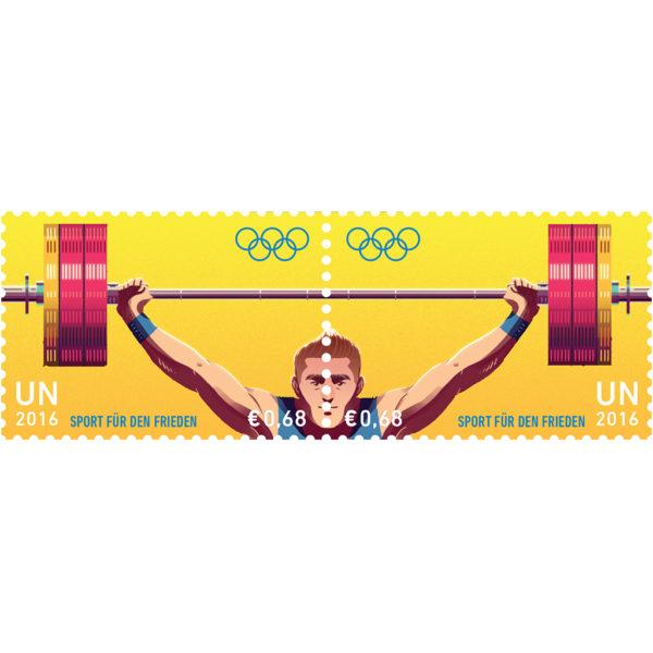 Olympic €UR 0.68 se-tenant