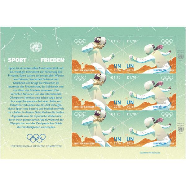 Olympic €UR 1.70 sheet