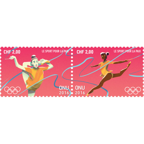 Olympic CHF 2.00 se-tenant