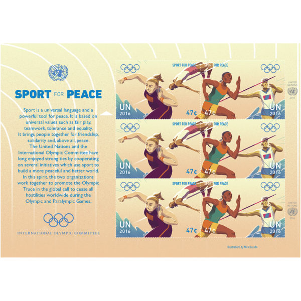 Olympic US$ 0.47 sheet