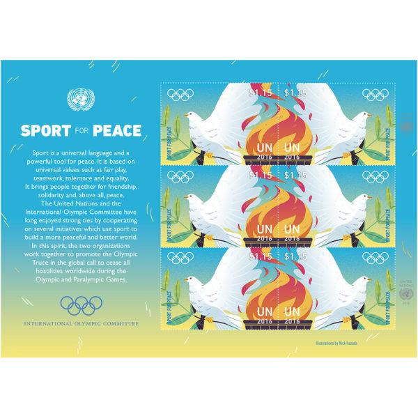 Olympic US$ 1.15 sheet
